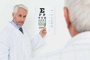 Doctor eye test photo